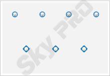 22 - Схема расположения точечных светильников на натяжном потолке