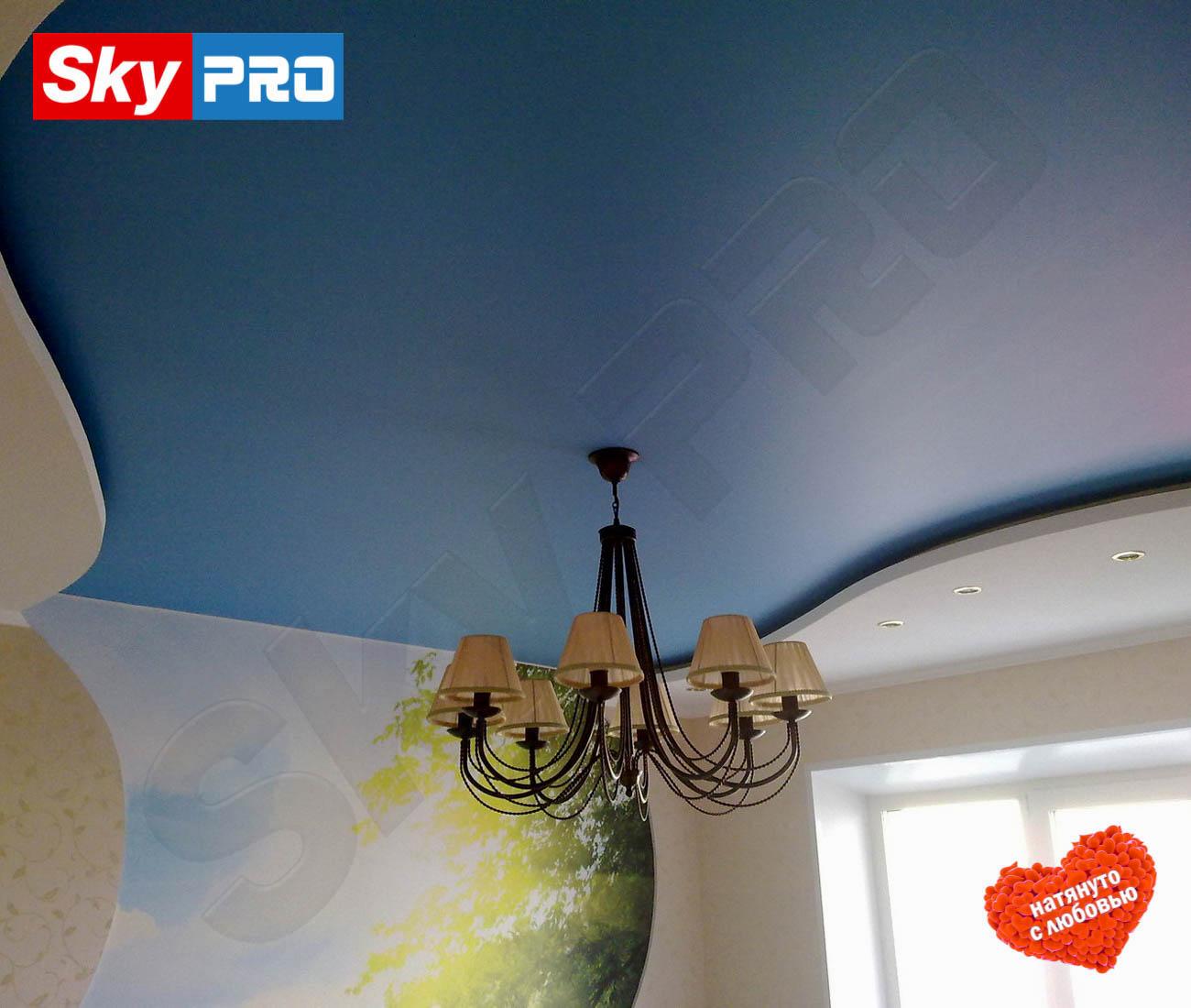 Цветной сатиновый натяжной потолок Экстра цена за метр