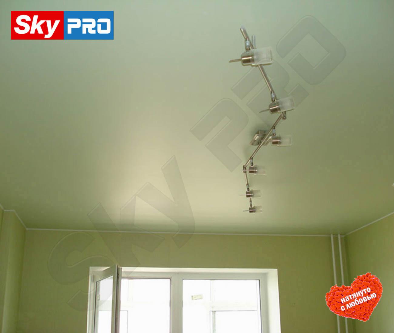 Цветной сатиновый натяжной потолок Лайт цена за метр
