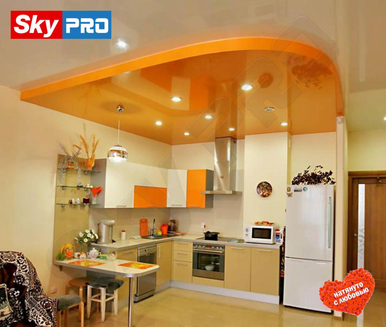 Двухуровневый натяжной потолок цена за м<sup>2</sup> Премиум