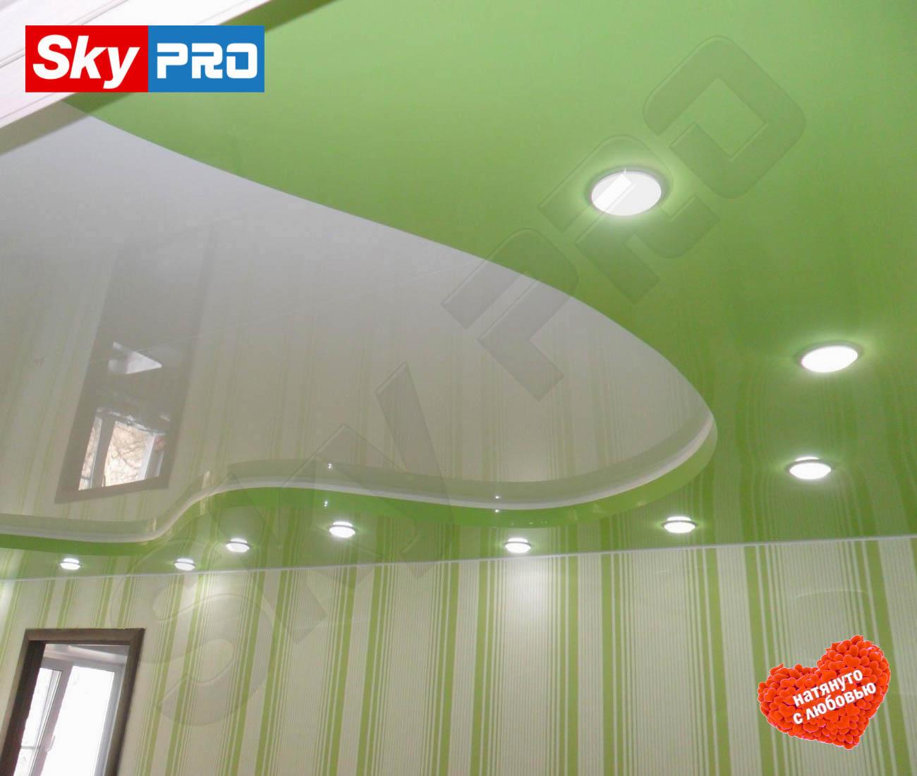 Двухуровневый натяжной потолок цена за м<sup>2</sup> Классик