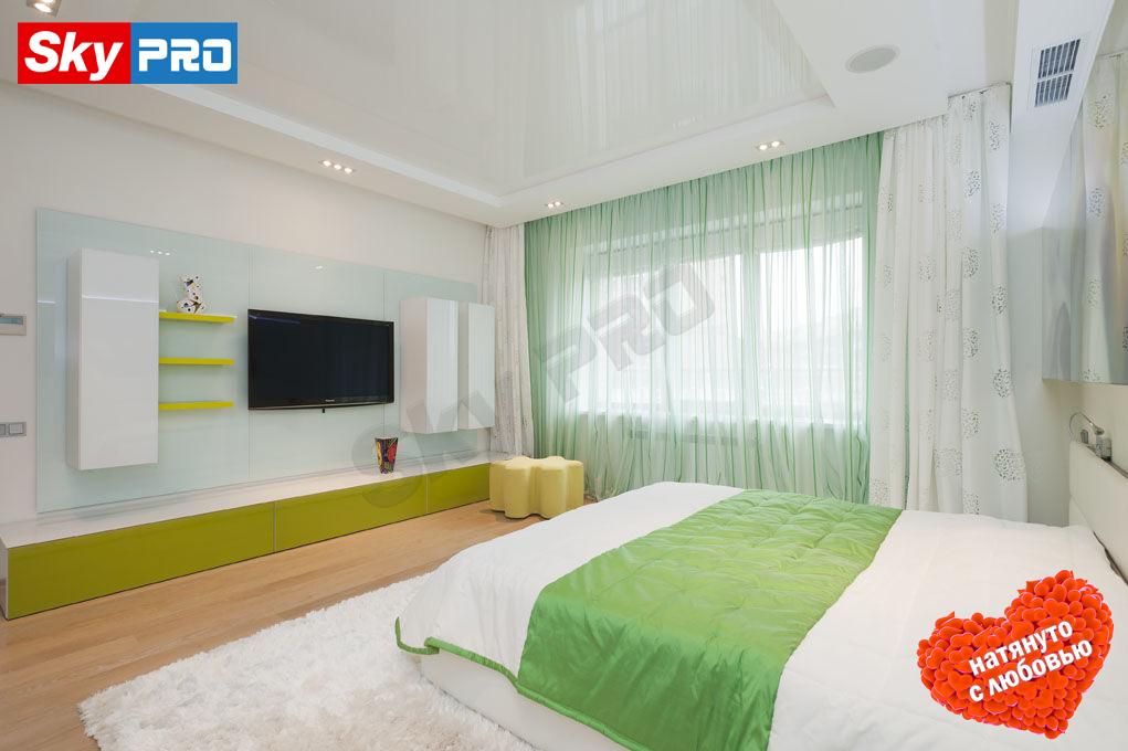 Дизайн потолка в спальне фото