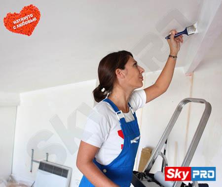 Можно ли красить натяжной тканевый потолок