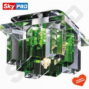 Точечный светильник Novotech Карамель 2 зелёный