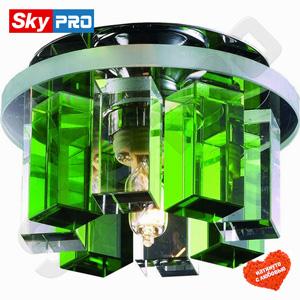 Точечный светильник Novotech Карамель 3 зелёный